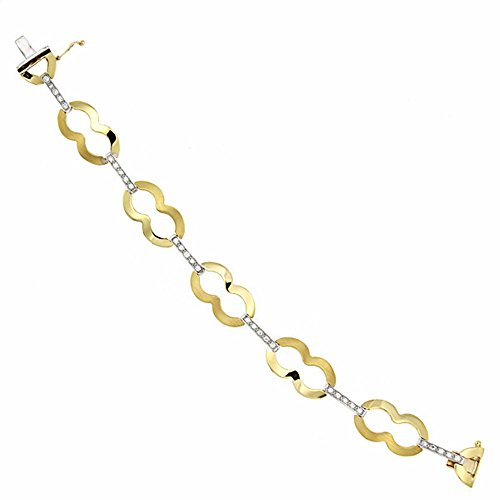 Bracelet 18k 19.5cm bicolor d'or. [AA1697]