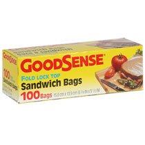 GoodSense Fold-Top Sandwich Bags, 100-ct. Boxes