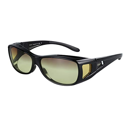 Duco Night Driving Over Glasses Wrap Around Be Worn Over Prescription Eyewear Night Vision 8952Y