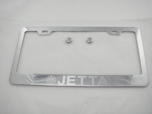 jetta chrome license plate frame - 3