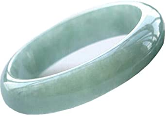 Chinese Beautiful Genuine Natural Green Jade Gems Bracelet Bangle 62mm