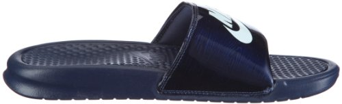 NIKE Men's Benassi Just Do It Athletic Sandal Midnight Navy/Windchill cheap big sale sale discounts rnKgd6N