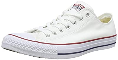 Converse Unisex Chuck Taylor All Star Ox Sneakers (7 D(M) US Men / 9 B(M) US Men.Optical White.)