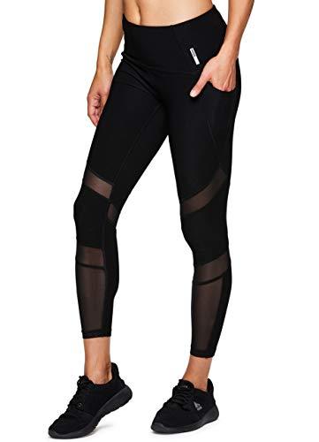 (RBX Active Women's Ankle Length Mesh Detail Workout Yoga Leggings)