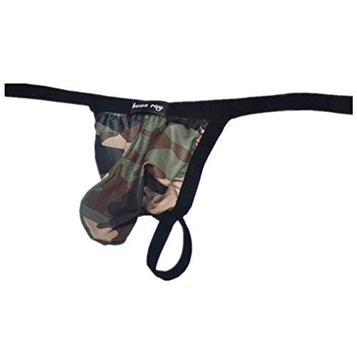 361ec698f9a BHYDRY Men Camouflage Thong Underwear Sexy Comfortable Breathable Underpant  Spandex Panties