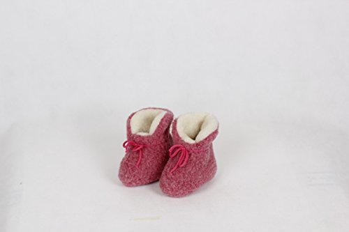 Baby Schafwollschuhe Rosa