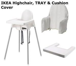 Ikea Bebe Chaise Haute Avec Plateau Housse De Coussin Ceinture