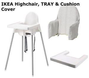 Ikea - Trona para bebé con Bandeja, Funda de cojín, cinturón ...