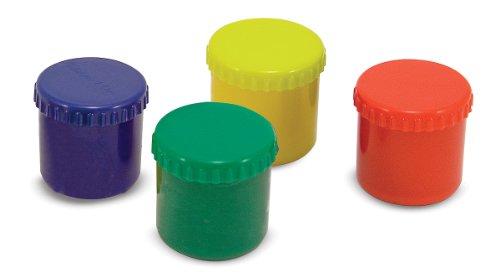 Melissa & Doug Finger Paint Set (4 pcs) - Red, Yellow, Blue, Green