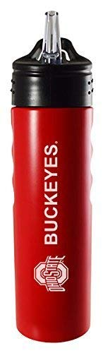 - LXG, Inc. Ohio State University-24oz. Stainless Steel Grip Water Bottle with Straw-Red