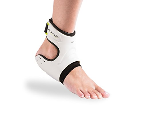 DonJoy Performance POD Ankle Brace, Best Support for Stability, Ankle Sprain, Roll, Strains for Football, Soccer, Basketball, Lacrosse, Volleyball –Large– Left–White