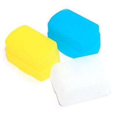 JJC - Diffusore professionale per Canon Speedlite 430EX e 430EX II - Flash Bounce Softbox (blu, bianco, giallo) FC-26B (W/B/Y)
