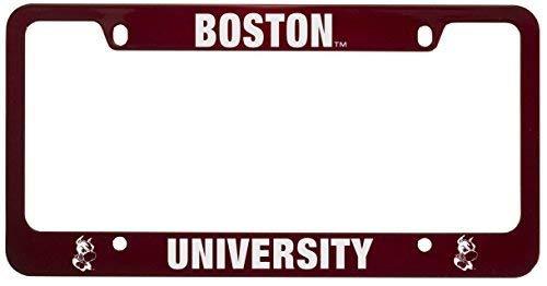 Boston University -Metal License Plate Frame-Red