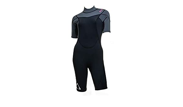 cdb829ac05 Amazon.com  EVO Elite 3mm Shorty Wetsuit (Women s) 5 6 Pink  Sports    Outdoors