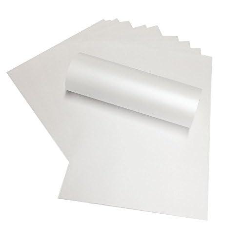 10 x A4-Blanc nacré Perle Papier 120 g/m² Compatible avec imprimantes jet d'encre, Laser et (PIA4-5)