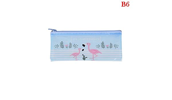 Cute Nice Flamingo Bird Green Cactus A4 File Bag Mesh Bag Document Bag Pvc File Folder Stationery Filing Production Office & School Supplies Filing Products