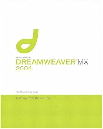 Macromedia dreamweaver 8: training from the source: khristine.