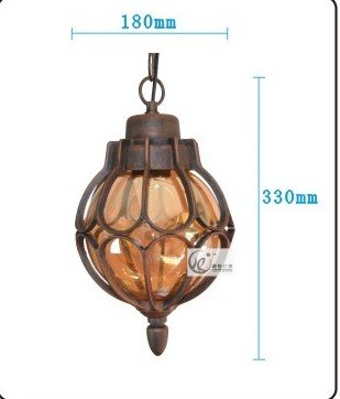 Injuicy Lighting Industrial Vintage Waterproof Outdoor Chandeliers Courtyard Garden Balcony Ceiling Light Fixture Loft Bedroom Pendant Lamp Dining Living Room Lighting Decor(Brown)