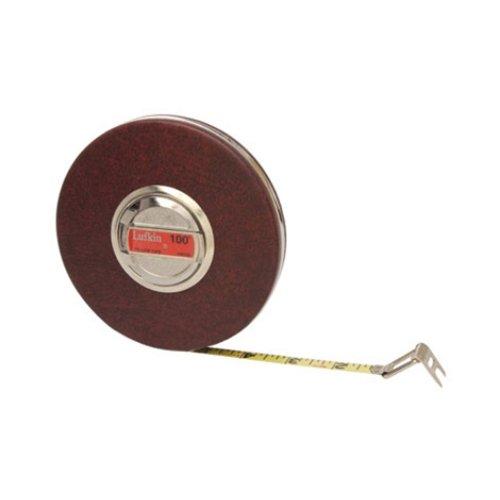 "Lufkin HW100 3/8"" x 100' Home Shop Yellow Clad Tape Measure"
