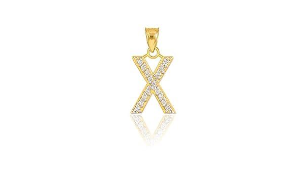 14k Yellow Gold Block Letter J Pendant Alphabet Initial Charm Fashion