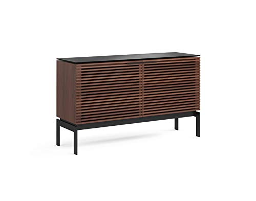 BDI Furniture CWL Corridor 7128 Double Cabinet - Charcoal Stained Walnut Media Center Chocolate