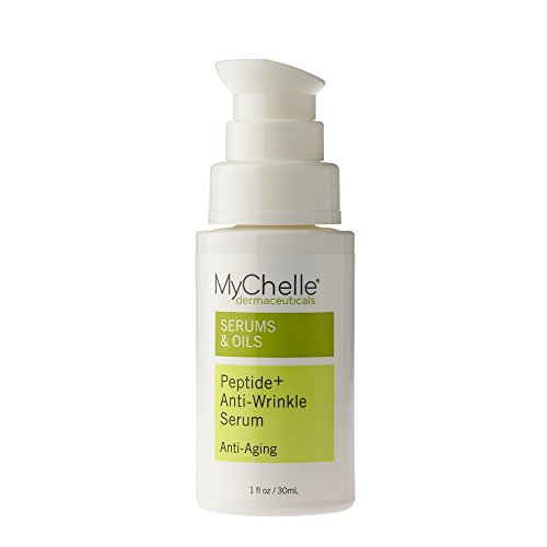 MyChelle Peptide+ Anti-Wrinkle Serum, Concentrated, Multi-Peptide Serum for All Skin Types, 1.0 fl oz