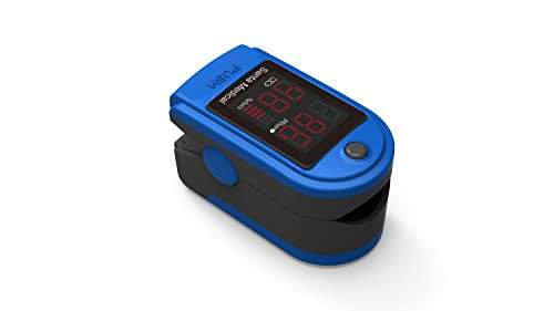 Santamedical-Generation-2-Fingertip-Pulse-Oximeter-Oximetry-Blood-Oxygen-Saturation-Monitor-with-carrying-case-batteries-and-lanyard-Blue