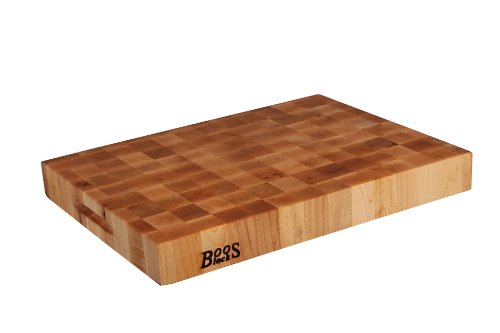 (John Boos Block CCB2015-225 Classic Reversible Maple Wood End Grain Chopping Block, 20 Inches x 15 Inches x 2.25)