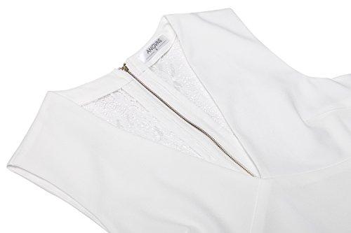 Blanc Angvns Angvns Robe Femme Femme Robe 4qqXxwF6U