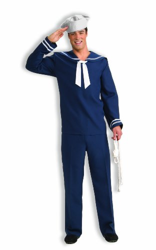 Navy Blue Sailor Costumes (Forum Novelties Men's Ahoy Matey Sailor Costume, Blue/White, Standard)
