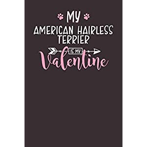 My American Hairless Terrier is My Valentine: 6x9 Cute American Hairless Terrier Notebook Journal Paper Book for Dog Mom and Dog Dad 1