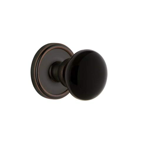 Grandeur Hardware 852539 Georgetown Rosette with Coventry Knob Passage, Backset Size: 2.375