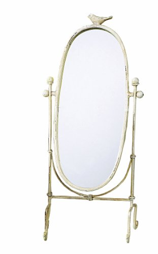 Creative Co-op Cottage Chic Vanity Mirror, 18.5-Inch