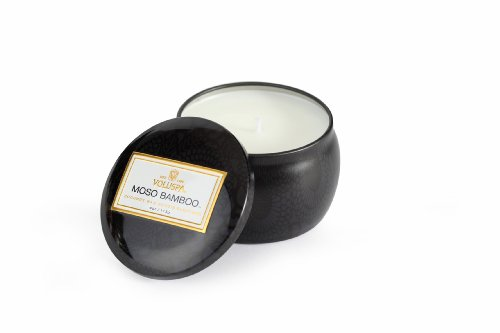 (Voluspa Decorative 3.5oz Moso Bamboo Tin Candle)