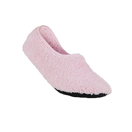 Super Soft Cozy Slippers with Slip-Resistant Bottom Sole (Small (Womens 5.5-7), Berry Pink)