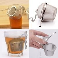 New Pot Type Reusable Stainless Steel Mesh Tea Herb Spice Ball Strainer Infuser Filter. Size (W top 2 in., bottom 1.25 in;H 1.8 in);Good for Glasses, Cups, Teapots, Cooking Pots, or Hanging Potpourri