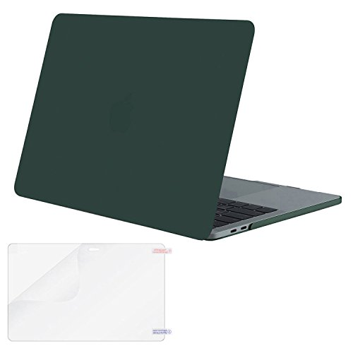 MOSISO MacBook Pro 13 Case 2018 2017 2016 Release A1989/A1706/A1708, Plastic Hard Shell Cover with Screen Protector Compatible Newest MacBook Pro 13 Inch with/Without Touch Bar, Peacock Green