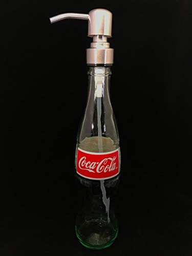 Glass Dispenser for Soap or Lotion Repurposed Coca Cola Bottle 12 Oz Coca Cola Recycled Bottle