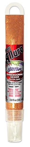 E6000 57091281 781H Allure Glitter Dimensional Adhesive Paint, Copper, 2 fl. oz.