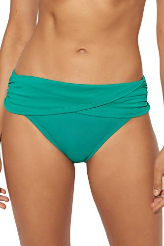 (Bleu Rod Beattie Women's Grotto Goddess Banded Hipster Bikini Bottom Emerald)