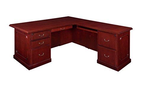Regency Prestige 72 by 36-Inch Double Pedestal L-Desk, Ma...