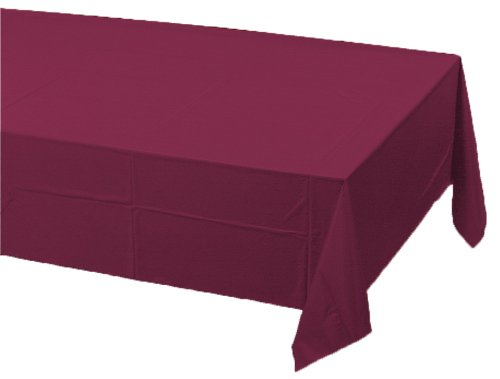 Poly Lined Tablecloths (Creative Converting Paper Banquet Table Cover, Burgundy)