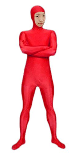 VSVO Spandex Open Face Full Bodysuit Zentai Suit for Adults and Children (X-Large, -
