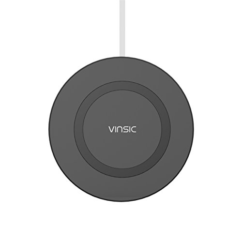 Price comparison product image Vinsic Wireless Qi Charging Pad with 3 coils and Folding Stand for Qi-Enabled Devices - Black