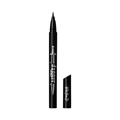 (Kat Von D Dagger Tattoo Liner Waterproof Liquid Eyeliner Trooper Black)