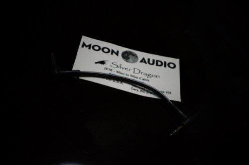 (Moon Audio Silver Dragon v3 3.5mm to 3.5mm replacement upgrade cable for Headphone amplifer)