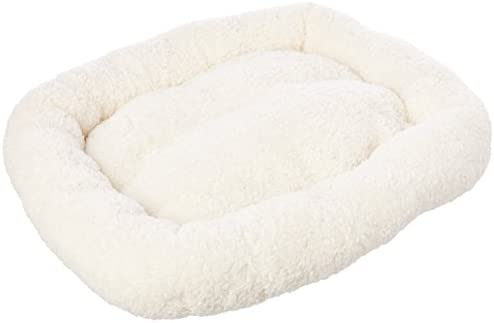 Long Rich HCT ERE-001 Super Soft Sherpa Crate Cushion Dog and Pet Bed, White, By Happycare Textiles