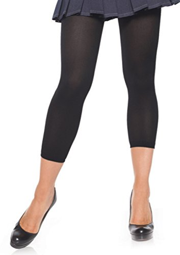 (LA7876 (Black) Footless Tights Opaque Black)
