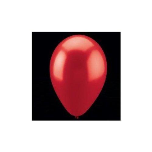 11 RED METALLIC BALLOONS DOZEN