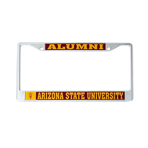 (Desert Cactus Arizona State University Alumni Metal License Plate Frame for Front Back of Car Officially Licensed ASU Sun Devils (Alumni))